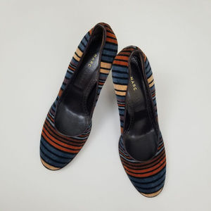 Marc Jacob l Multi- Colors Suede Pumps